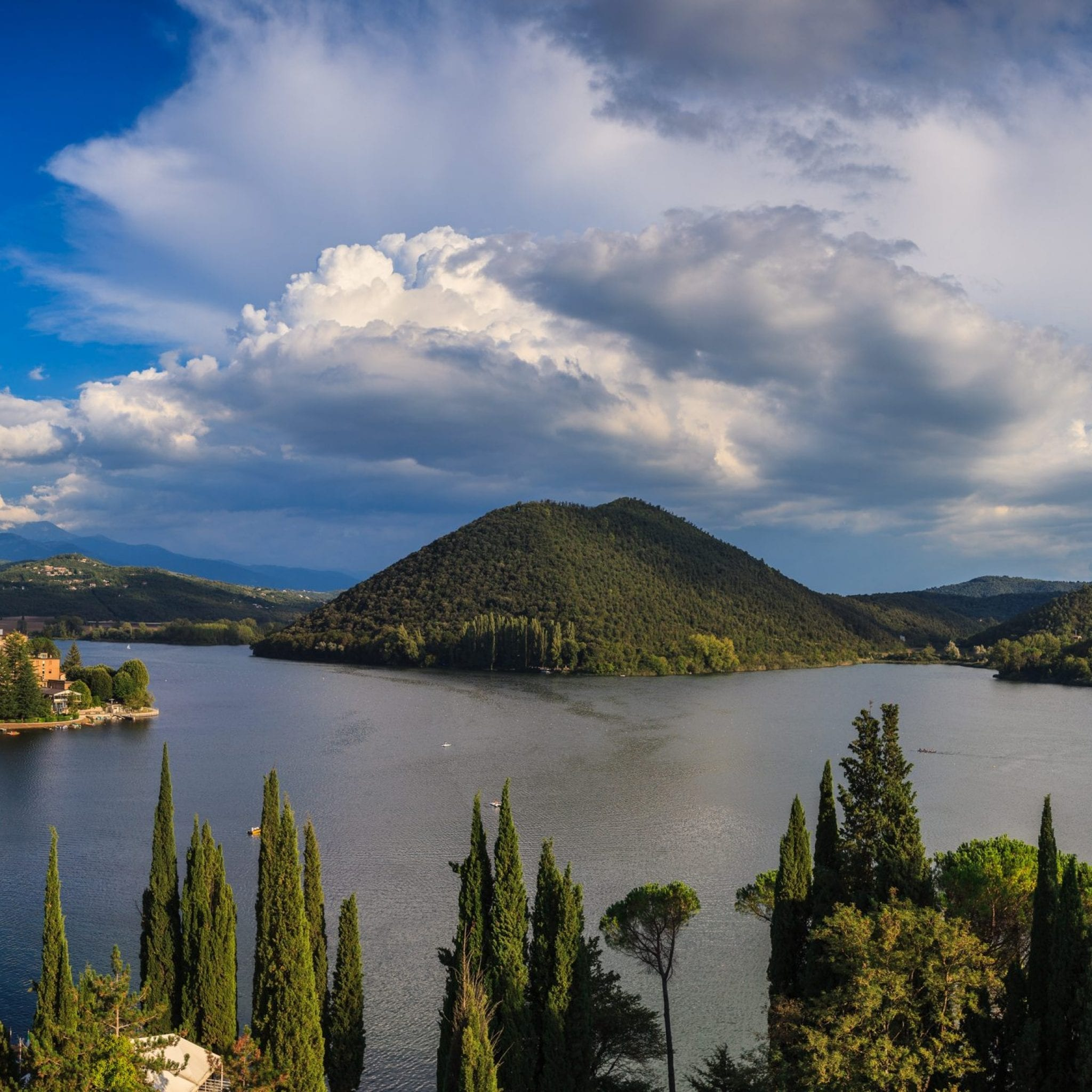 Lago di Piediluco panoramica