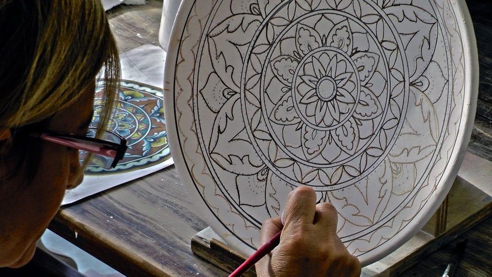 decorazione ceramica deruta